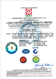 ISO CERTIFICATE Load Controls India Pvt Ltd
